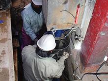 鋼管抗圧入工法