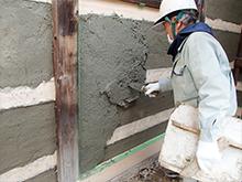 6.壁土塗込み状況