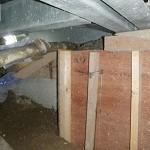 コンクリート床下打設状況 全て床下作業でした。