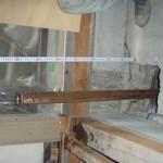 φ鋼管杭打込み完了 特許の杭で基礎下5mまで打込んでます。