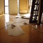 復旧完了 床、壁の張替で新築同様になります。